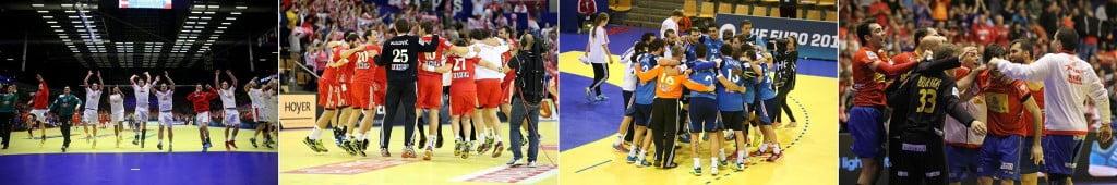 Dinamarca, Croácia, França ou Espanha: qual destas selecções irá alcançar a glória / Fonte: Eurohandball.com