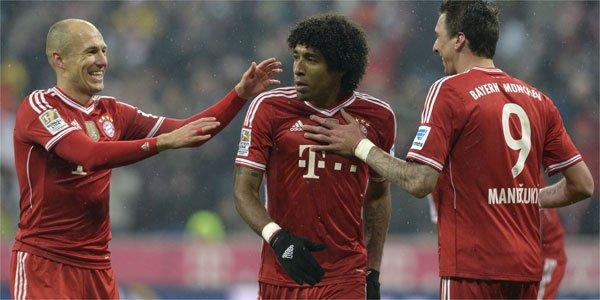 Frankfurt foi um adversário fácil para o BayernFonte: Superesportes.com.br