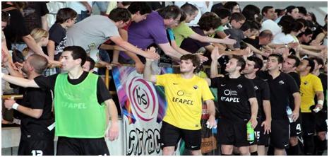 Ex-jogadores da Académica, todos eles contestatários da atual Direção Fonte: Futsalglobal