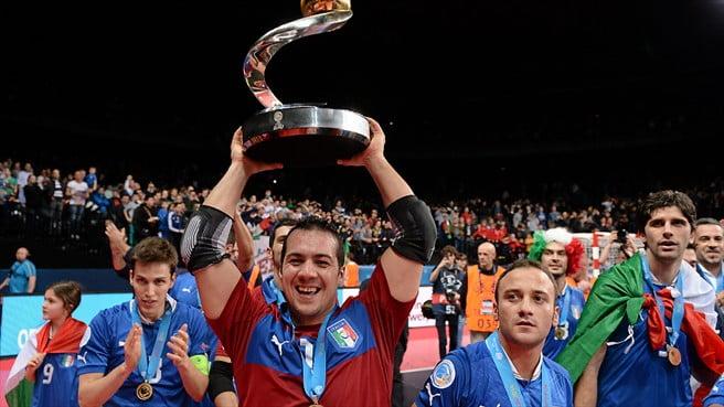 Mammarella, guarda-redes de topo que ajudou e muito a Itália a conquistar o título de campeã da Europa em futsal. Fonte: Uefa.com