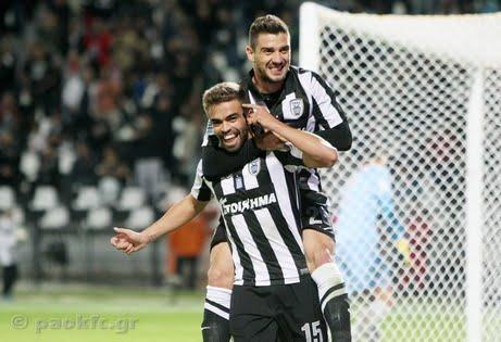 Miguel Vítor e Katsouranis já pertenceram ao Benfica e agora jogam pelo PAOK