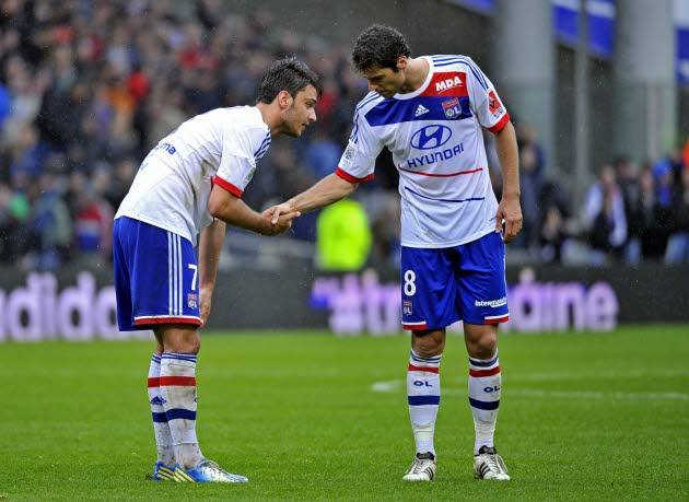 Grenier e Gourcuff formam uma dupla invejável no actual meio campo do Lyon Fonte: leprogres.fr