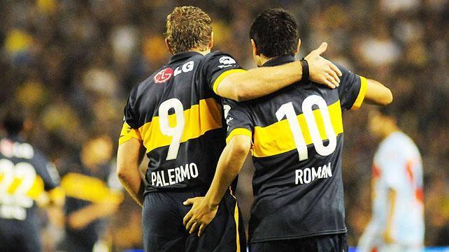 Riquelme e Palermo, dois dos maiores nomes da história do clube