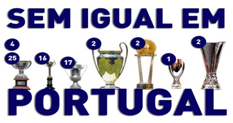 Nas últimas épocas, o número de troféus conquistados pelo FC Porto multiplicou-se a olhos vistos  Fonte: fcporto1986.blogspot.com
