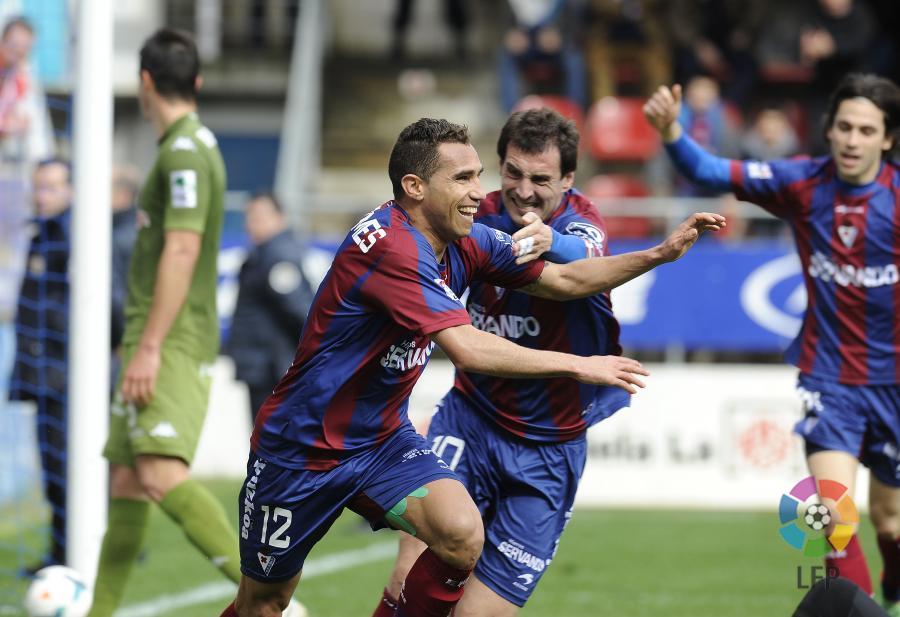 O SD Eibar está um passo da ascensão ao escalão máximo do futebol espanhol Fonte: LFP