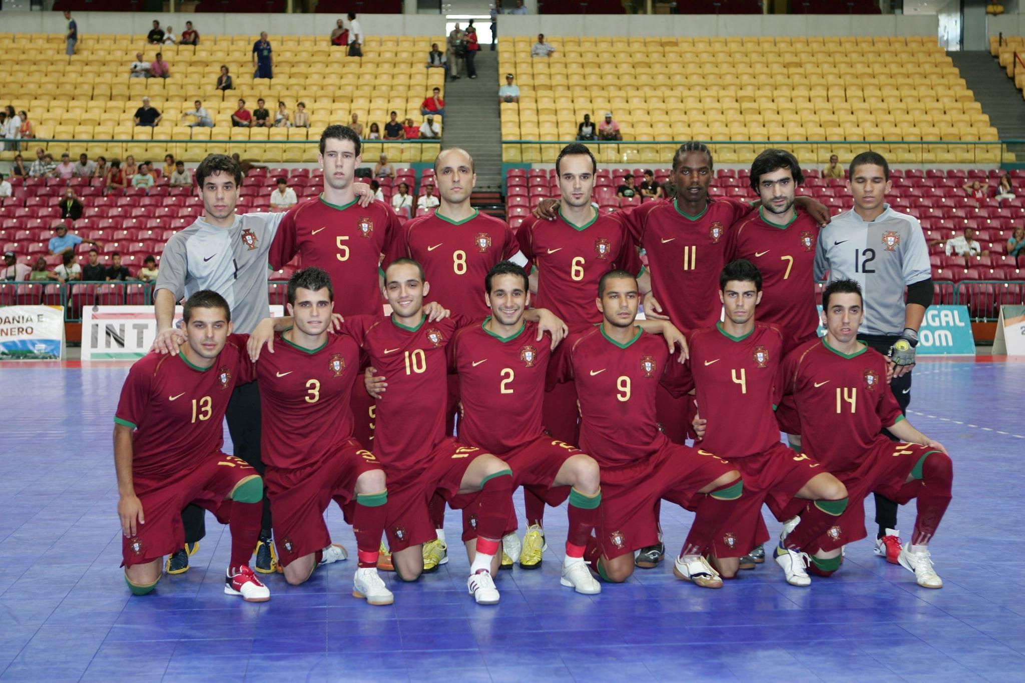 Equipa que representou Portugal nos Jogos da Lusofonia, e de que Amílcar fez parte (2009)