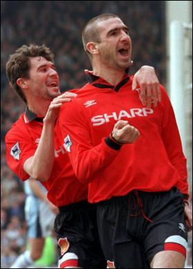 Eric Cantona é um dos melhores jogadores da história do Manchester United Fonte: Soccerlens.com