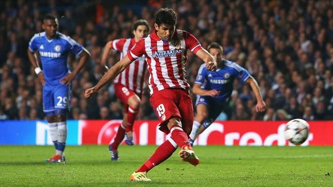 Diego Costa, de grande penalidade, voltou a marcar na Liga dos Campeões  Fonte: UEFA
