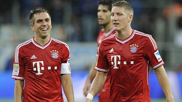 Os anos não parecem passar por Lahm e Schweinsteiger Fonte: Bilder.de