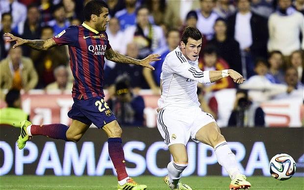 Bale foi, claramente, o jogador que mais desequilibrou a defesa do Barcelona Fonte: Telegraph.co.uk