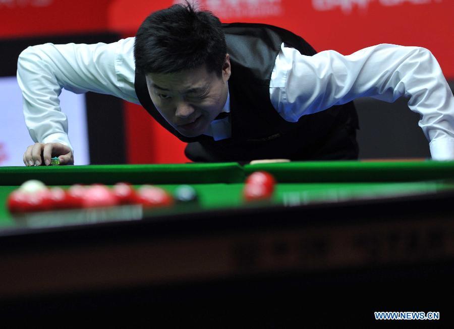 O asiático Ding Junhui derrotou o número um do ranking mundial, por 10-5. no Open da China. Fonte:  (Xinhua/Gong Lei)