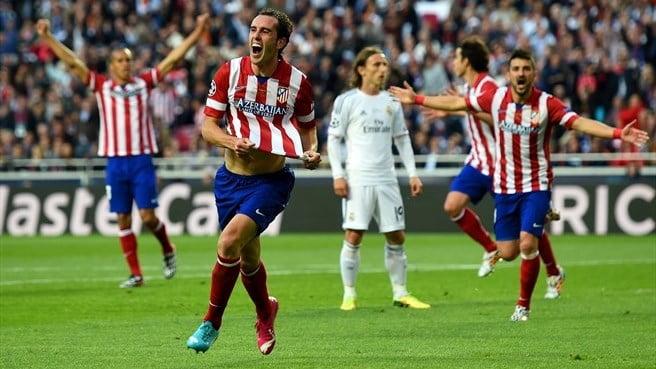 Godín - quem mais? - marcou o golo rojiblanco Fonte: UEFA