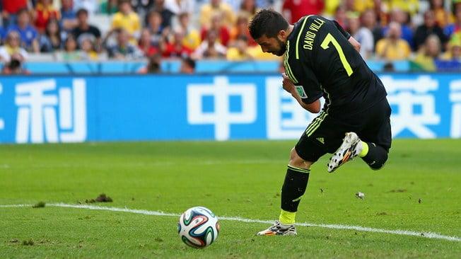 Villa foi o melhor jogador do encontro e marcou desta forma o golo inaugural Fonte: FIFA