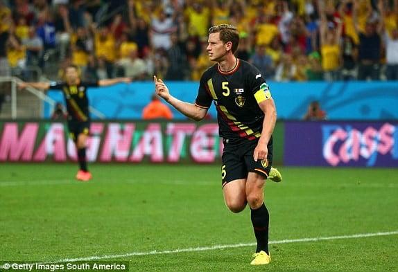Bélgica a ganhar: um hábito Fonte: dailymail.co.uk