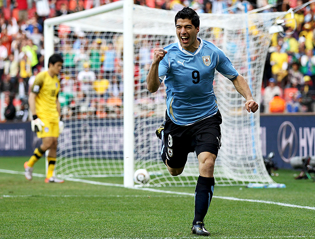 Luis Suárez é a estrela maior do conjunto do Uruguai  Fonte: generalseveriano.wordpress.com