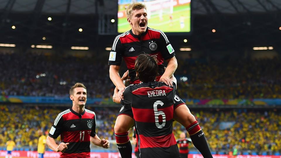Toni Kroos, com 2 golos, foi um dos responsáveis pelo massacre alemão Fonte: FIFA