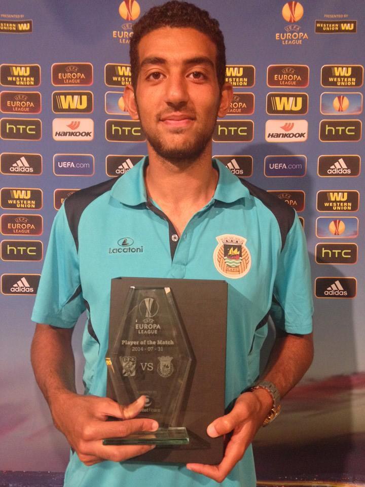 Hassan fez história e foi o melhor jogador em campo Fonte: Facebook do Rio Ave