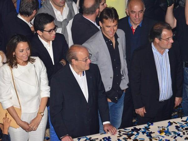 Pinto da Costa, Lopetegui e Reinaldo Teles estiveram na primeira fila  Fonte: FC Porto