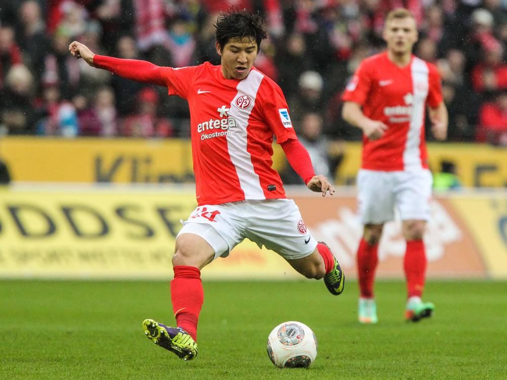 Okazaki é o principal destaque do Mainz neste início de época  Fonte: mainz05.de