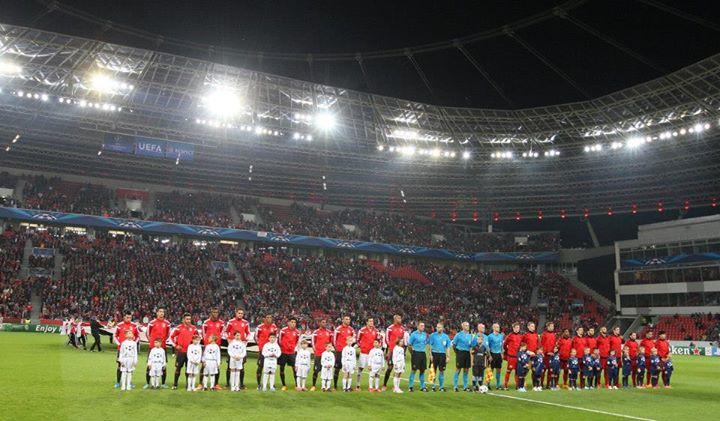 Antes do pesadelo Fonte: Facebook do Sport Lisboa e Benfica