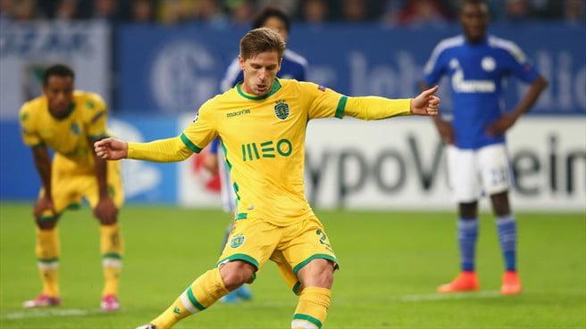 Adrien Silva recolocou o Sporting na discussão do encontro ao converter um penálti aos 64 minutos Fonte: UEFA