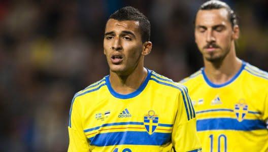Nabil Bahoui já fez companhia a Zlatan no ataque sueco  Fonte: fotbolltransfers.com