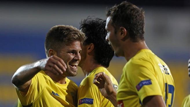Diogo Amado e Kléber - os autores dos golos do Estoril  Fonte: UEFA