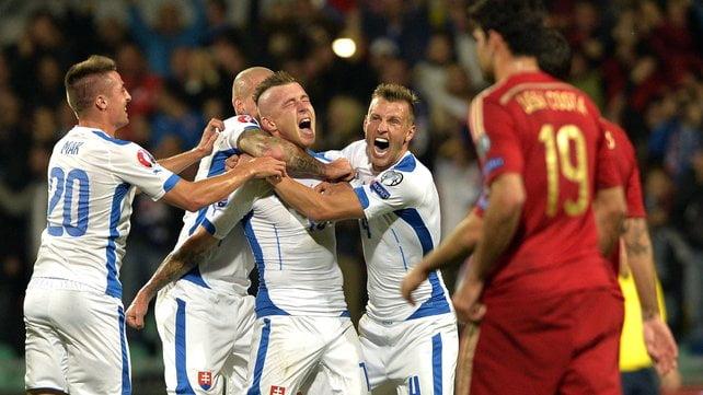 Kucka, festejando o primeiro golo dos eslovacos  Fonte: rte.ie