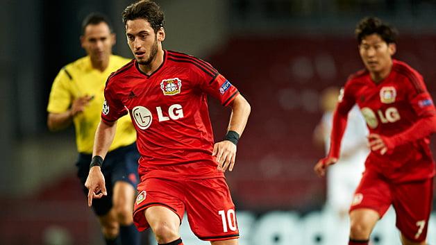 Son e Çalhanoğlu, as estrelas de Leverkusen  Fonte: bundesliga.com
