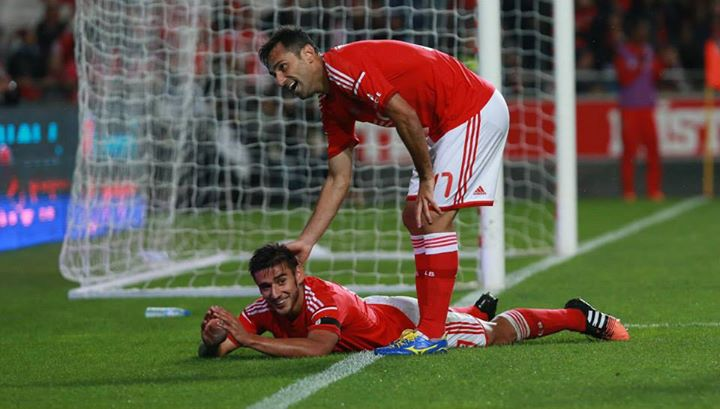 Salvio e Jonas, os homens da noite Fonte: Facebook Oficial do Sport Lisboa e Benfica