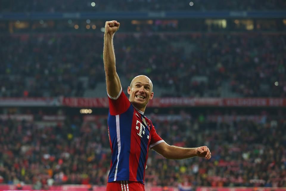 Robben deu os três pontos Fonte: Facebook Bayern Munique