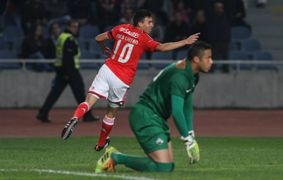 """Nico Gaitán foi o maior destaque do lado dos """"encarnados"""" Fonte: Faceboko do Sport Lisboa e Benfica"""
