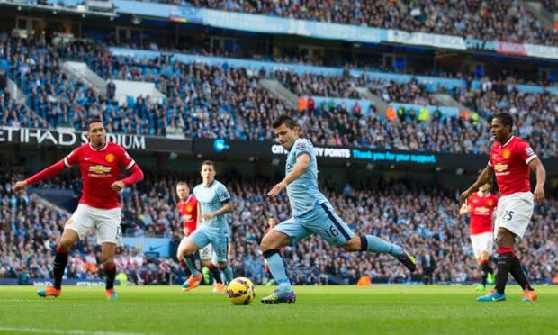 Aguero, o marcador do costume deste City Fonte: The Guardian