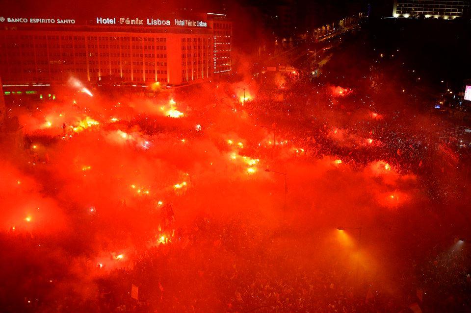 Um ano absolutamente memorável para o Benfica e os seus adeptos Fonte: Facebook do Sport Lisboa e Benfica