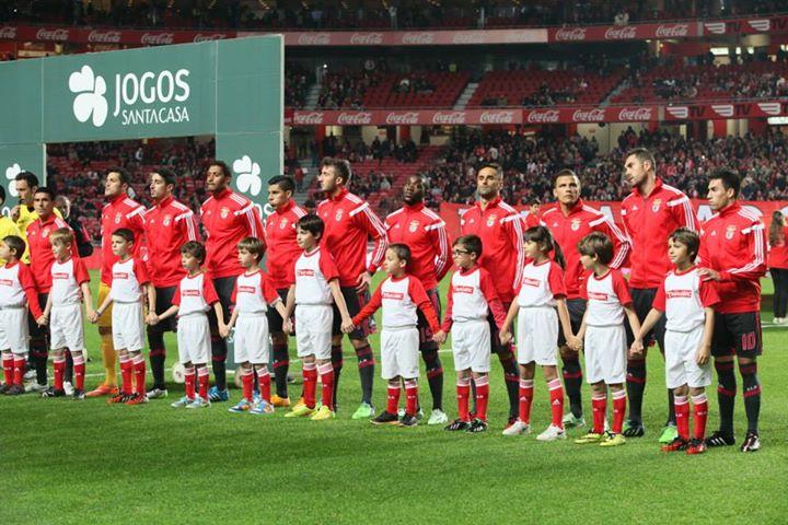 Onze inicial benfiquista da passada quinta-feira Fonte: Facebook do Sport Lisboa e Benfica