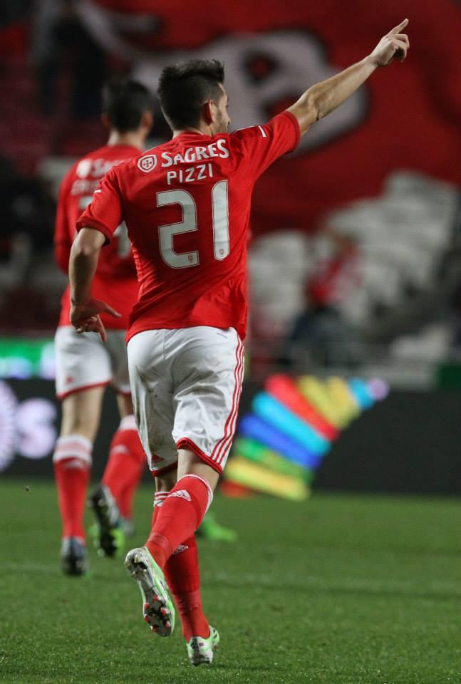 Pizzi, o homem do jogo Fonte: Facebook Benfica