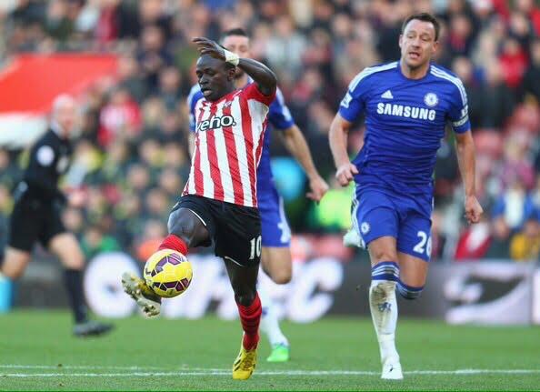 Sadio Mané, um dos destaques do Southampton Foto: Facebook Sadio Mané