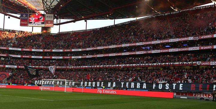 Sem palavras Fonte: Facebook Oficial do Sport Lisboa e Benfica