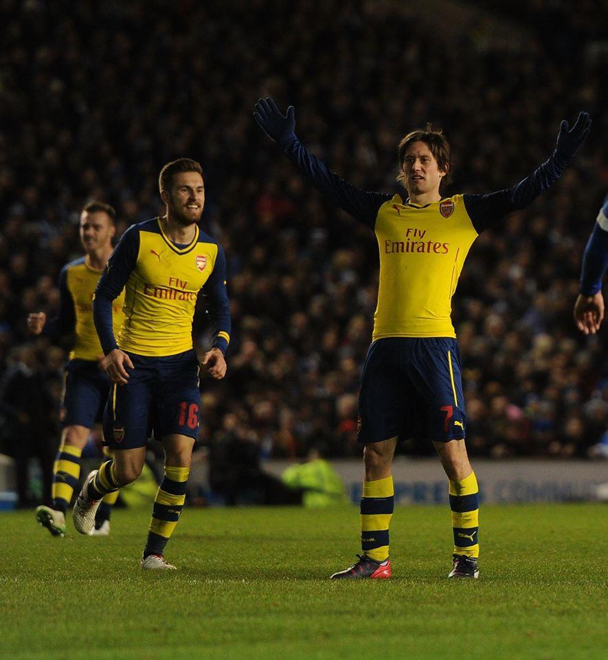 Apesar de castigado pelas lesões, Tomáš Rosický continua com a mesma classe Foto: Facebook do Arsenal