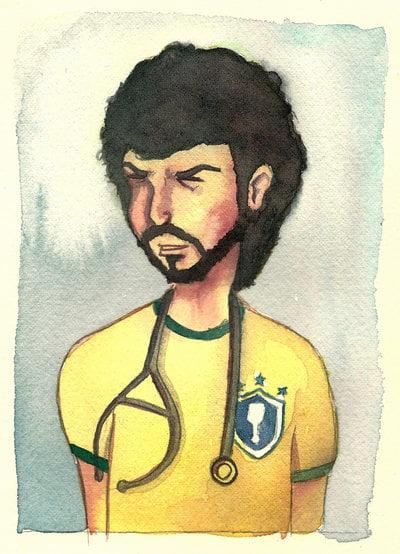 Sócrates é um ídolo para os brasileiros Fonte: deviantart.net