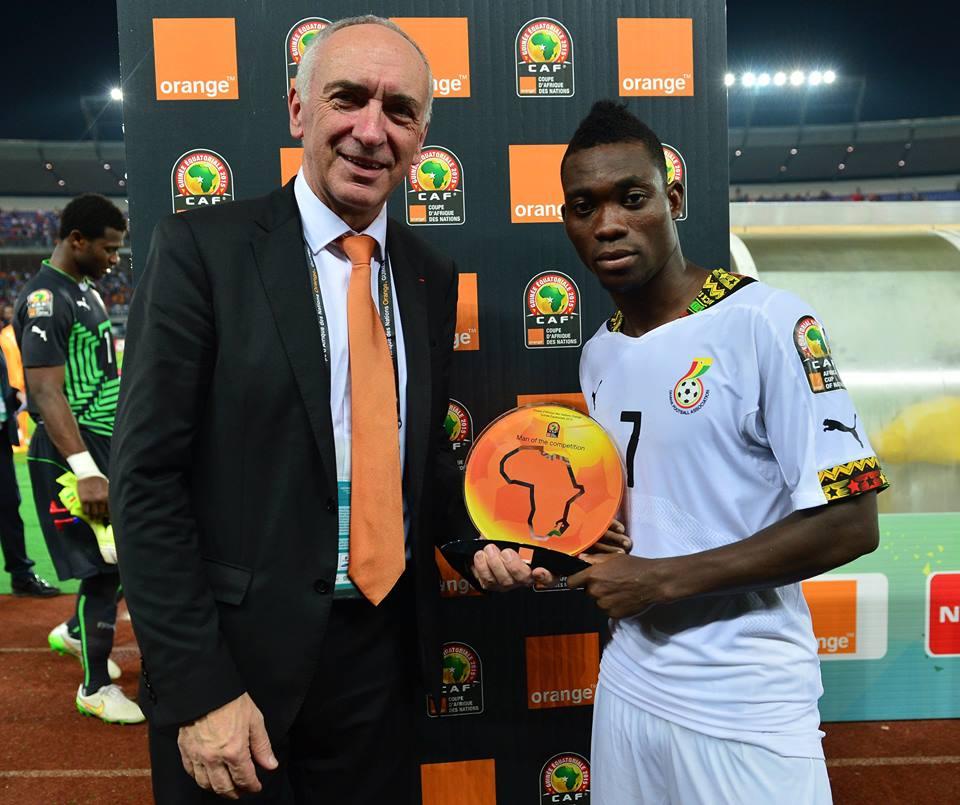 Atsu foi o melhor jogador da CAN Fonte: Facebook da CAF