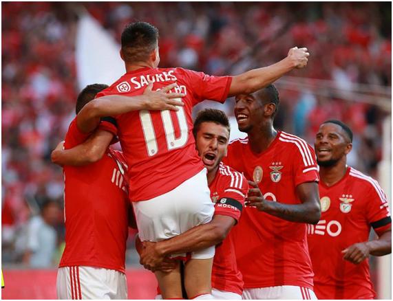 Golo do Benfica em jogo contra o Sporting = coisa sublime; Fonte: facebook do Sport Lisboa e Benfica