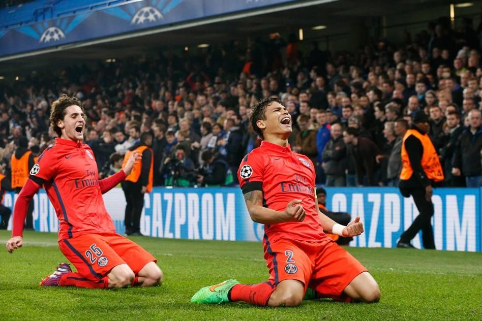 As lágrimas de alegria de Thiago Silva como ilustração da vitória da emoção sobre a razão Fonte: Facebook do PSG
