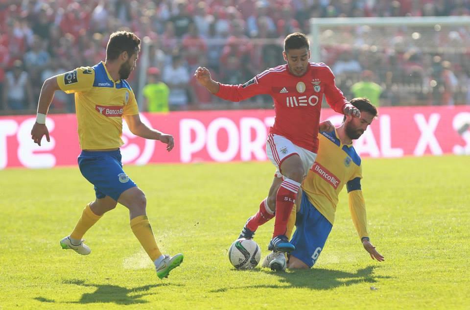O Benfica tem sentido enormes dificuldades fora da Luz Fonte: Facebook do Sport Lisboa e Benfica