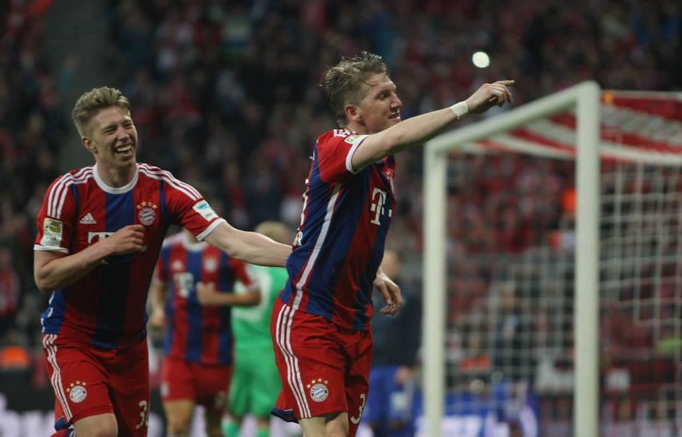 Schweinsteiger marcou o golo do título Fonte: Facebook do Bayern