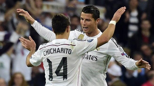 O português assistiu, o mexicano marcou - os dois protagonistas do único golo da eliminatória  Fonte: UEFA