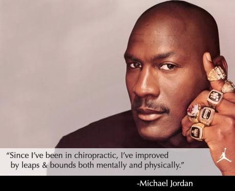 O recurso ao chiropractor  contribuiu em muito para a longa e brilhante carreira de Jordan  Fonte: fosteringwellness.net