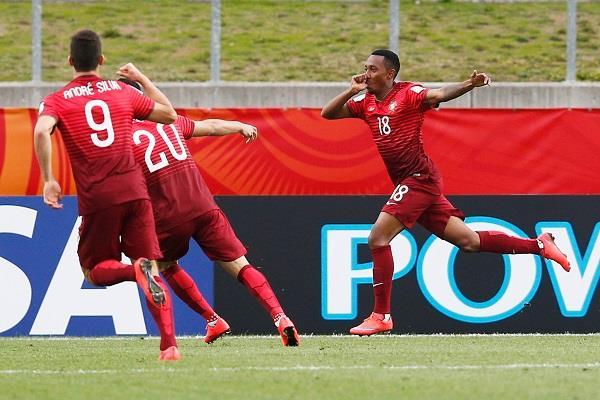 Gelson Martins e André Silva marcaram dois dos três golos que derrotaram o Senegal Fonte: Página do Facebook das Seleções de Portugal