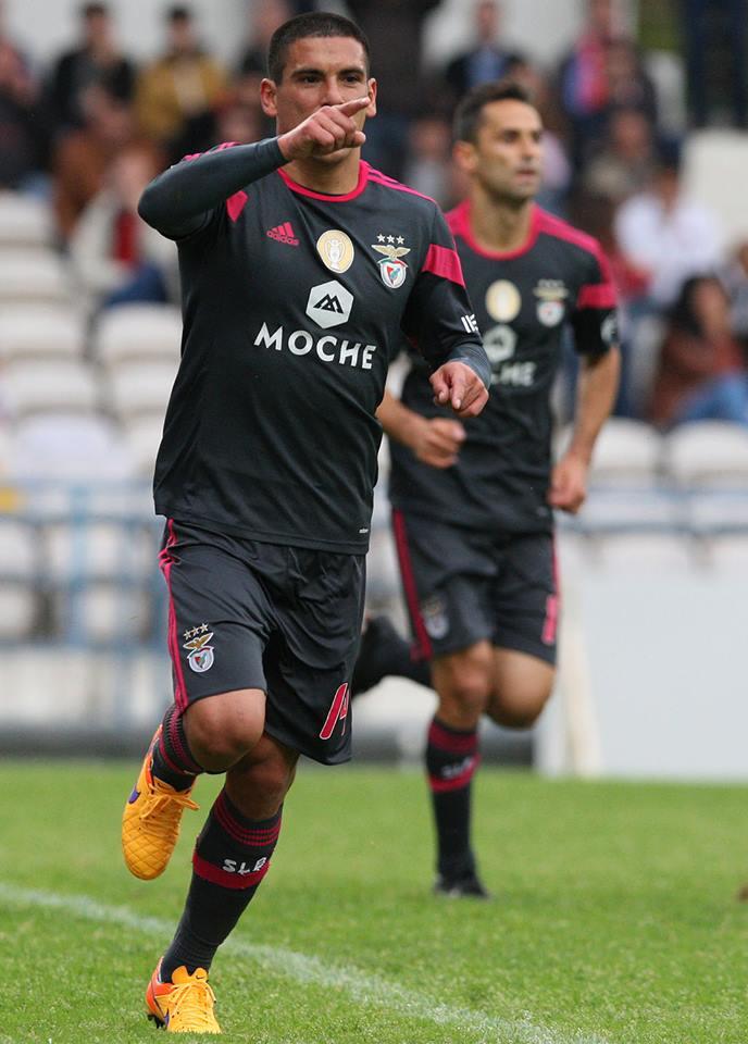 Maxi, autor de um improvável bis Fonte: Facebook do Sport Lisboa e Benfica