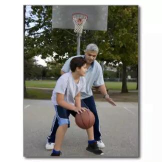 basquetebol pai e fillho